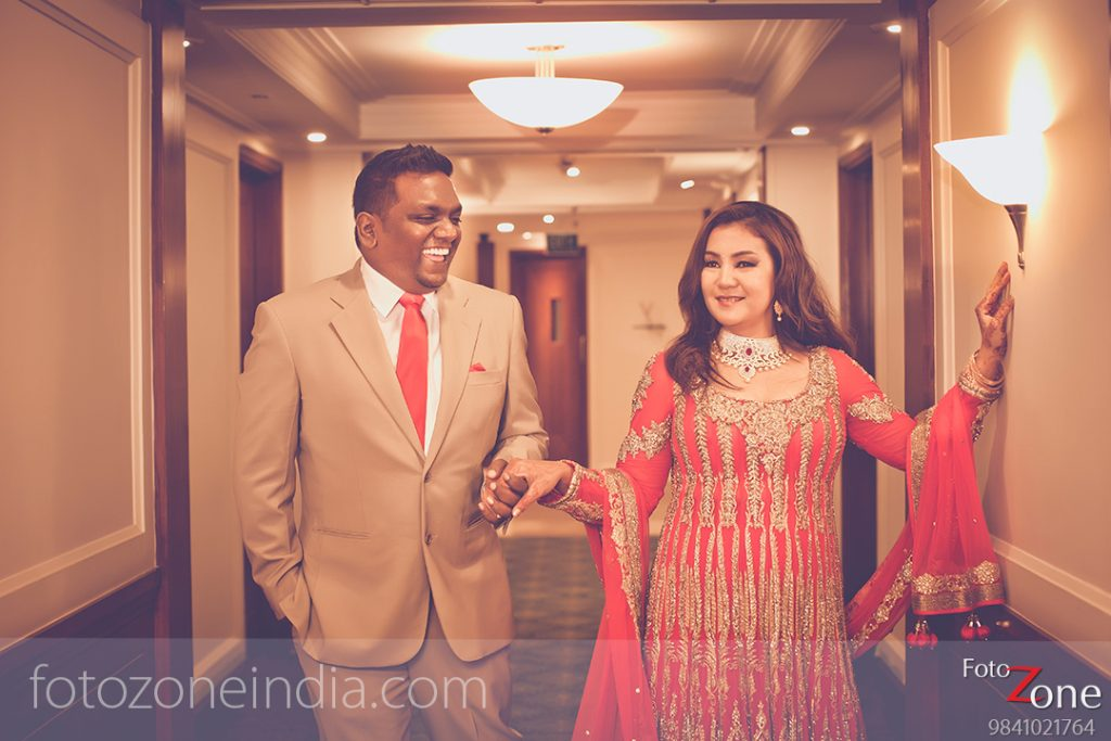 Indian and Non Indian Couple